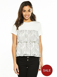 v-by-very-petite-tiered-lace-jersey-top-ivory
