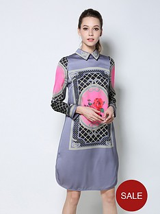 comino-couture-comino-couture-long-sleeve-collar-shift-dress