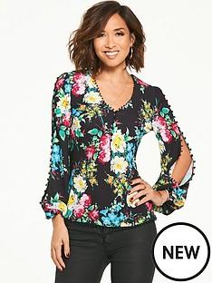 myleene-klass-button-sleeve-blouse