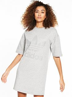 adidas-originals-short-sleeve-sweater-dress-greynbsp