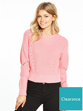 miss-selfridge-petite-fisherman-jumper