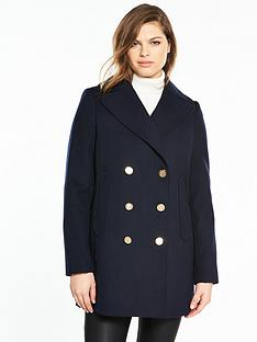 v-by-very-short-military-double-breasted-coat-navy