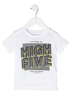 river-island-mini-boys-white-039high-five039-print-t-shirt