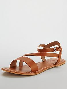 v-by-very-rayne-leather-asymmetricnbspflat-sandal-tan