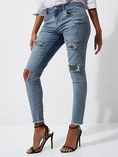 river-island-sequin-skinny-jeans