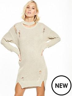 river-island-ladder-jumper-dress