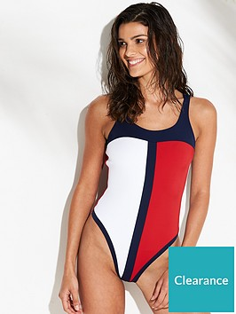 tommy-hilfiger-classic-swimsuit-navy