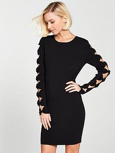 ted-baker-jayney-knitted-bodyconnbspdress-with-cut-out-sleeves