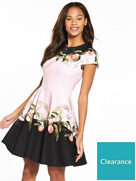 ted-baker-antana-peach-blossom-jersey-skater-dress