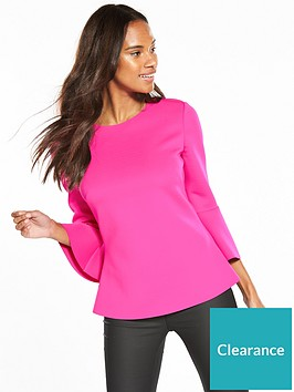 ted-baker-gigih-cropped-bell-sleeve-top-bright-pink