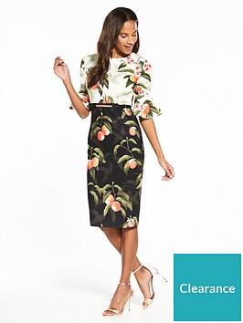 ted-baker-areea-peach-blossom-ruffle-dress