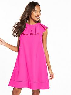 ted-baker-clarees-ruffle-neckline-shift-dress