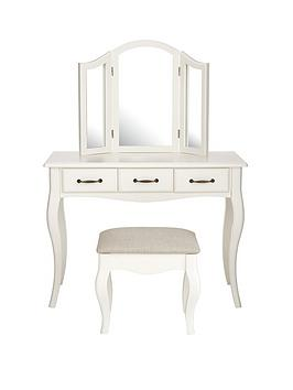 Olivia Dressing Table, Mirror and Stool Set | littlewoodsireland.ie