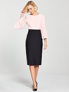 ted-baker-ted-baker-limila-contrast-tulip-sleeve-dress
