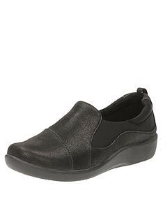 c5a69db1b58c Clarks Sillian Paz Wide Fit Slip On Shoe - Black