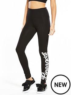 miss-selfridge-pineapple-high-waisted-legging-black