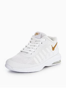 7c18b975a0 Nike Air Max Invigor Childrens Trainer - White/Gold   littlewoodsireland.ie