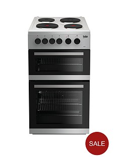 beko-kd533as-50cm-twin-cavity-electric-cooker-silver
