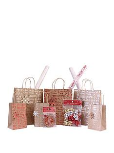 kraft-41-pc-christmas-gift-set-bags-wrap-bows-and-tags