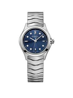 ebel-ebel-wave-navy-dial-diamond-set-stainless-steel-bracelet-ladies-watch