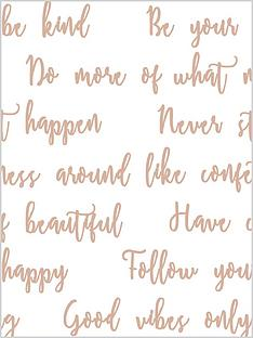 superfresco-easy-good-vibes-quote-wallpaper-ndash-whiterose-gold
