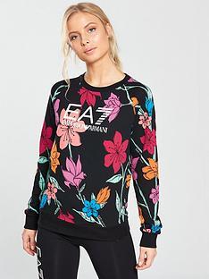 emporio-armani-ea7-graphic-print-long-sleeve-top-black