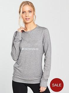emporio-armani-ea7-train-diamante-logo-long-sleeve-top-grey