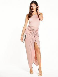 miss-selfridge-twist-drape-maxi-dressnbsp