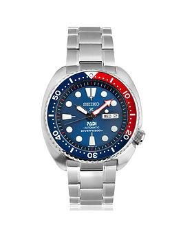 Seiko In Association With Padi Blue Dial Stainless Steel Mens Diving