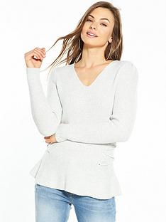 v-by-very-power-shoulder-lace-up-side-jumper-pale-grey-marl