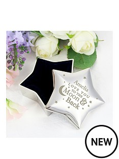 personalised-to-the-moon-and-back-star-shaped-trinket-box