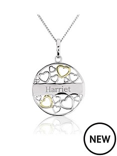 keepsafe-sterling-silver-and-yellow-rhodium-heart-personalised-fligree-disc-pendant
