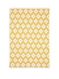 mamas-papas-mustard-diamonds-rug