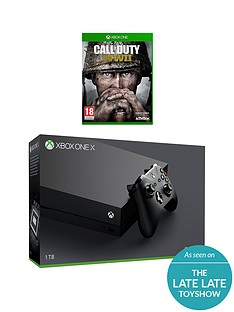 xbox-one-x-console-with-call-of-duty-wwii