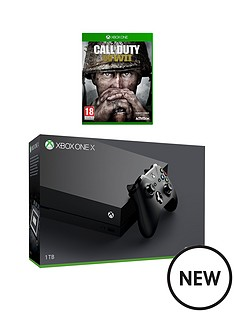 xbox-one-x-console-with-call-of-duty-wwiinbspplus-optional-extra-controller-and-12-months-xbox-live
