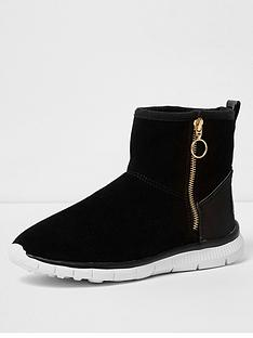 river-island-river-island-black-suede-side-zip-casual-ankle-boot