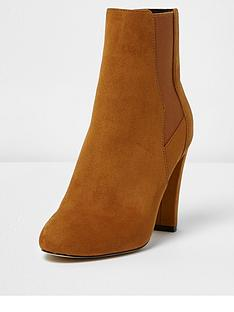 river-island-heeled-chelsea-boot--tan