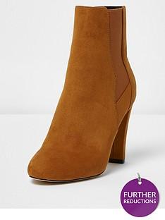 river-island-heeled-chelsea-boot--tan