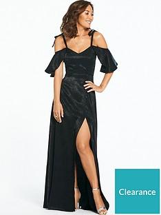 myleene-klass-jacquard-ruched-side-maxi-dress