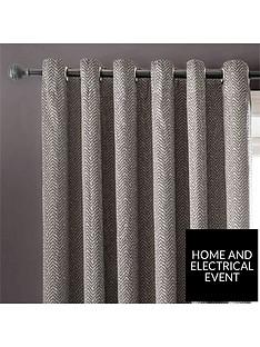 1600213160: Studio GVerona Lined Eyelet Curtains 66x90