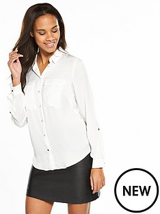 v-by-very-utility-shirt-ivory