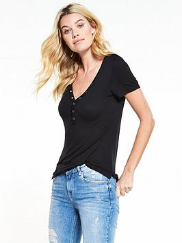 by shirt V Neck  Popper Very Black T Free Shipping Get Authentic ADzkJ7Fa4