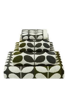 orla-kiely-house-multi-stem-pack-of-2-bath-sheets-ndash-moss