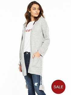v-by-very-lace-up-tassel-side-edge-to-edge-cardigan-grey-marl