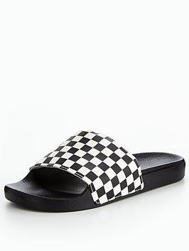Vans Mens MN Slide-On Checkerboard Slider - Black White ... fcc75be97