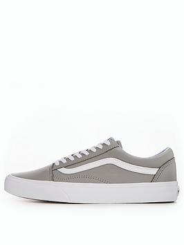 Cheap Sale Footlocker Pictures Skool Old nbsp Vans  Grey Leather 2018 Newest Cheap Browse 100 Guaranteed Order Cheap Price xKLxsTHhp1