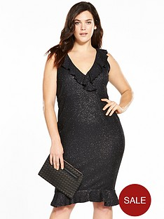 ax-paris-curve-frill-bodycon-dress-black