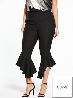 v-by-very-curve-fluted-flared-hem-trouser