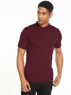 river-island-ss-muscle-fit-twist-polo