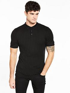 river-island-clarke-cable-ribbed-polo